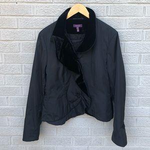 Escada Ruffle & Velvet Detail Black Jacket!